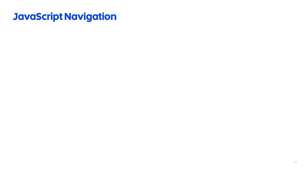 48 JavaScript Navigation
