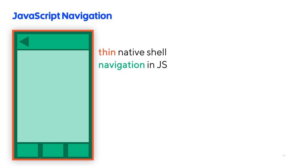 48 JavaScript Navigation thin native shell navi...