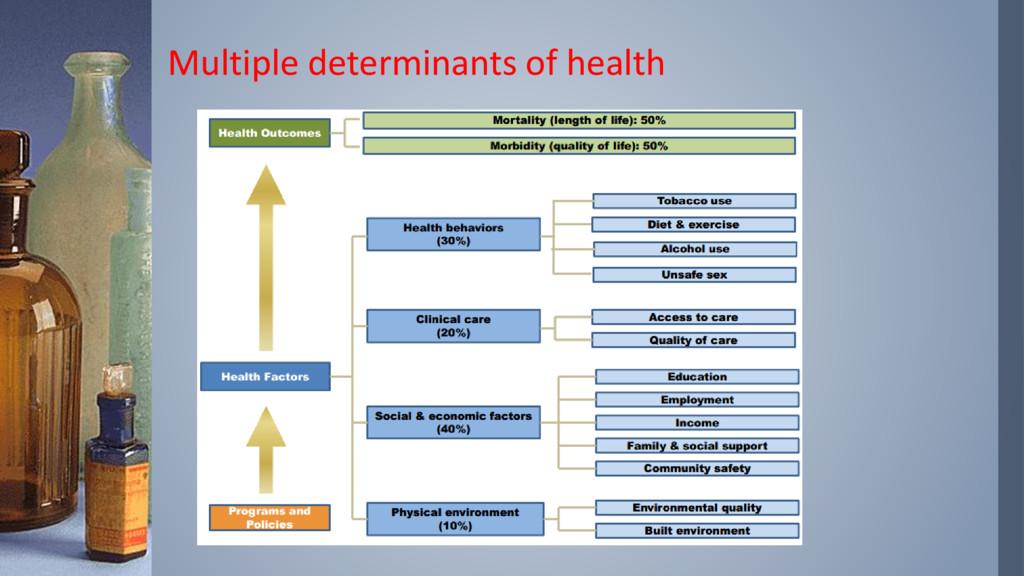 Multiple determinants of health