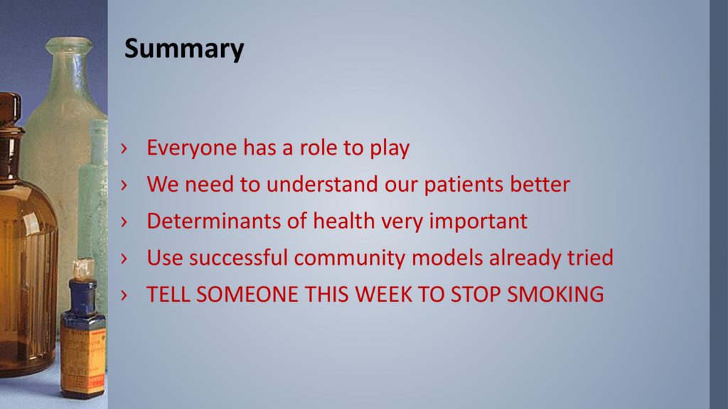 Summary › Everyone has a role to play › We need...