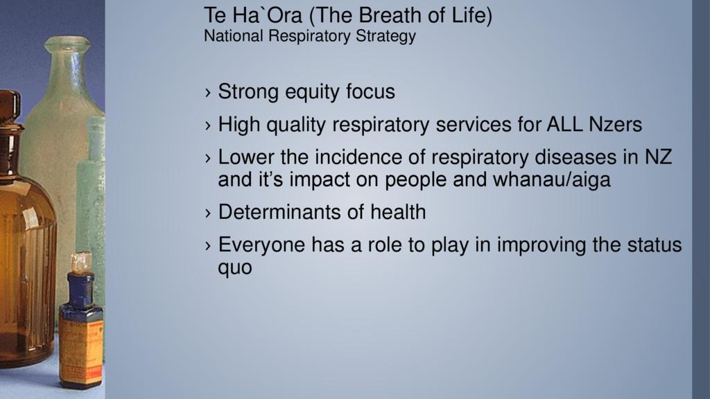 Te Ha`Ora (The Breath of Life) National Respira...