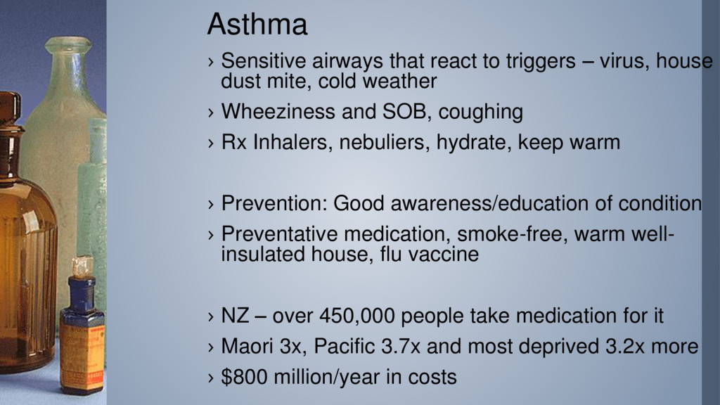 Asthma › Sensitive airways that react to trigge...