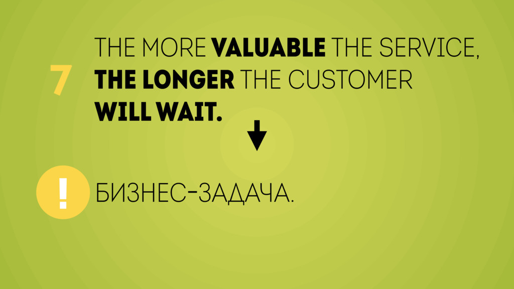 The more valuable the service, the longer the c...
