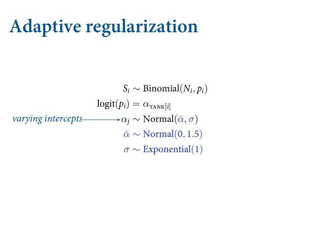 Adaptive regularization varying intercepts ...