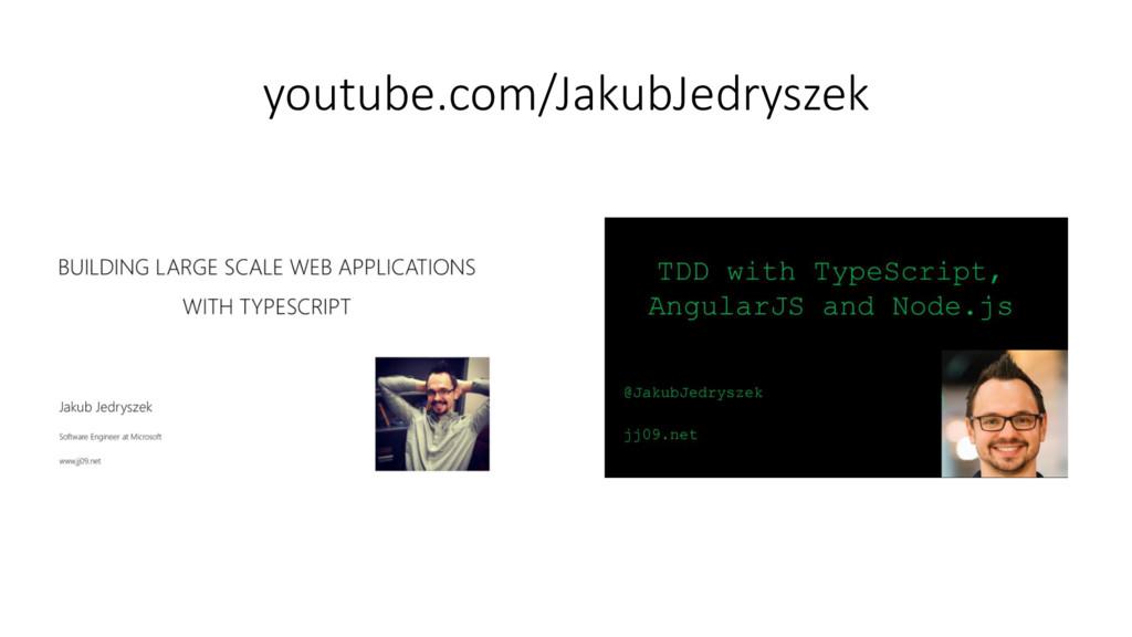 youtube.com/JakubJedryszek