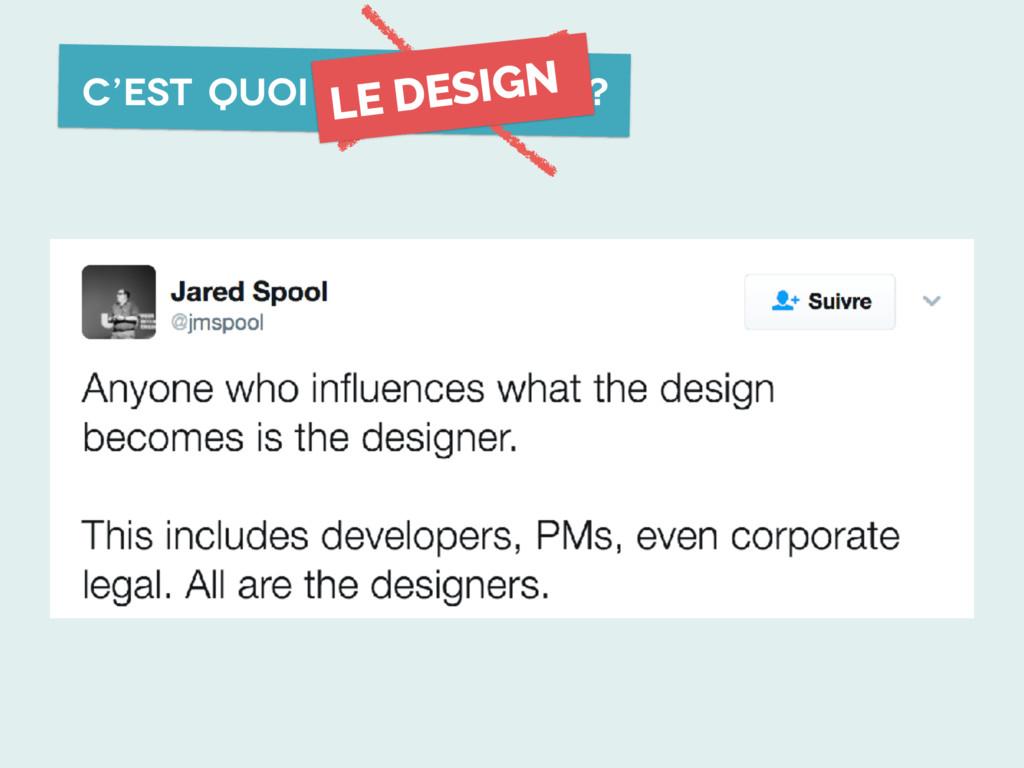 C'est quoi l'UX design ? LE DESIGN