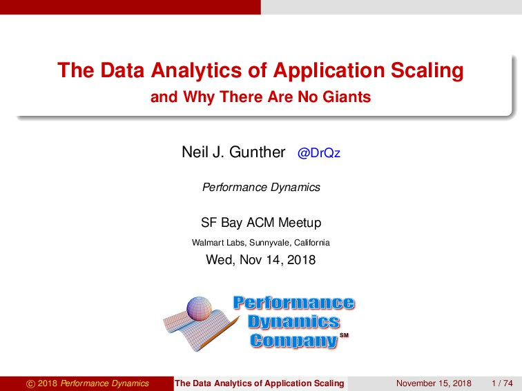The Data Analytics of Application Scaling and W...