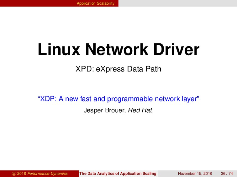 Application Scalability Linux Network Driver XP...