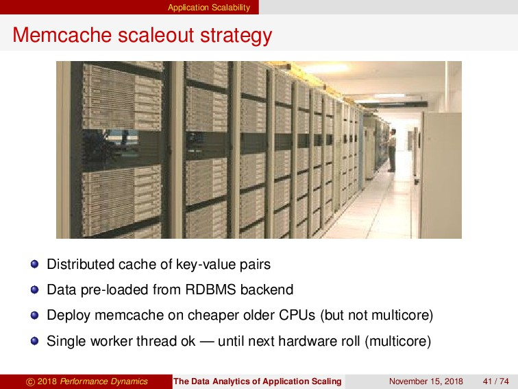 Application Scalability Memcache scaleout strat...