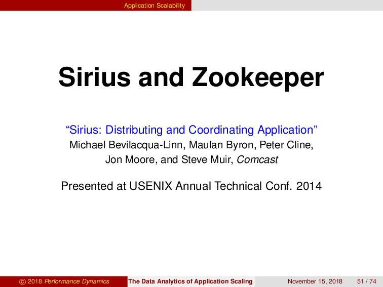 "Application Scalability Sirius and Zookeeper ""S..."