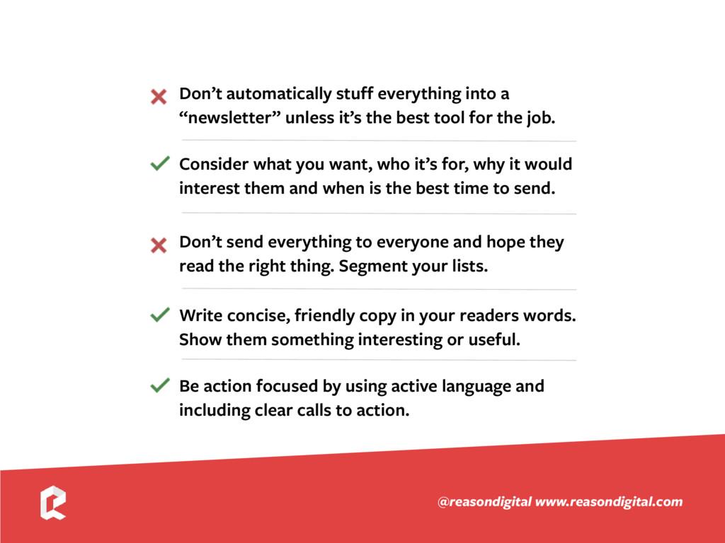 www.reasondigital.com @reasondigital Write conc...