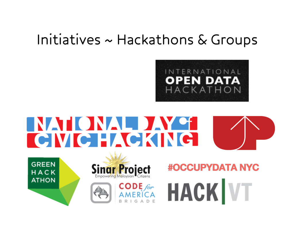 Initiatives ~ Hackathons & Groups