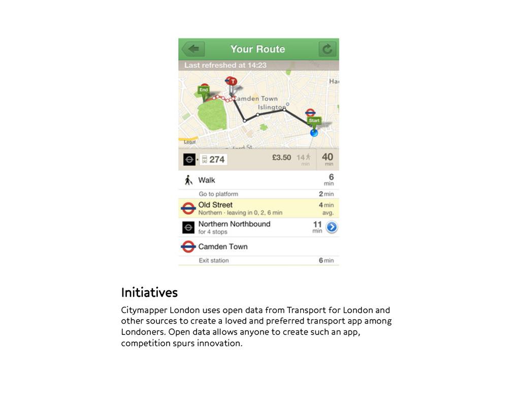 Initiatives Citymapper London uses open data f...
