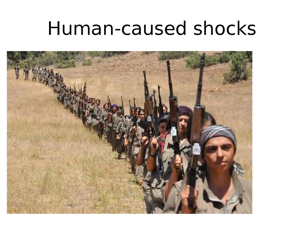 Human-caused shocks