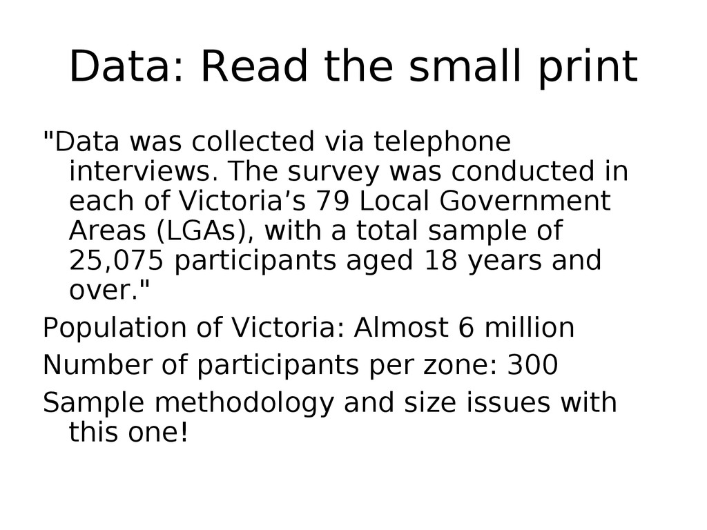 "Data: Read the small print ""Data was collected ..."