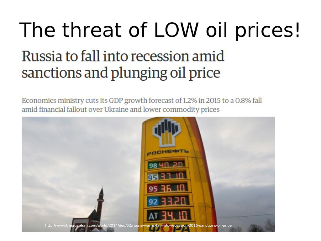 The threat of LOW oil prices! http://www.thegua...