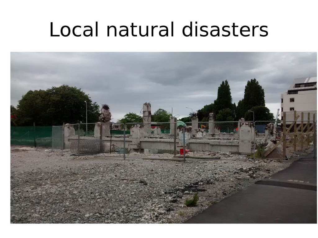 Local natural disasters