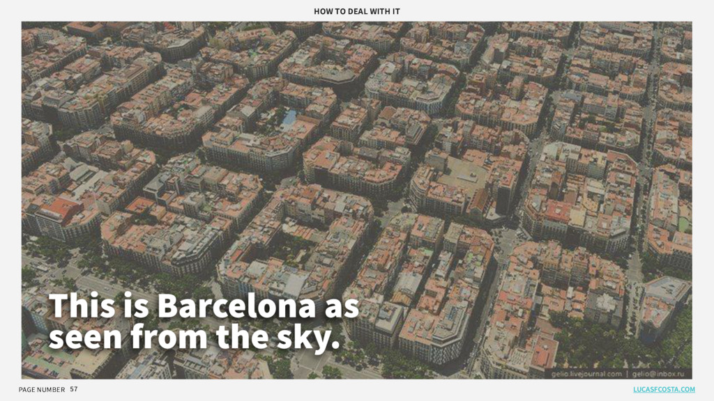 PAGE NUMBER 57 This is Barcelona as seen from t...