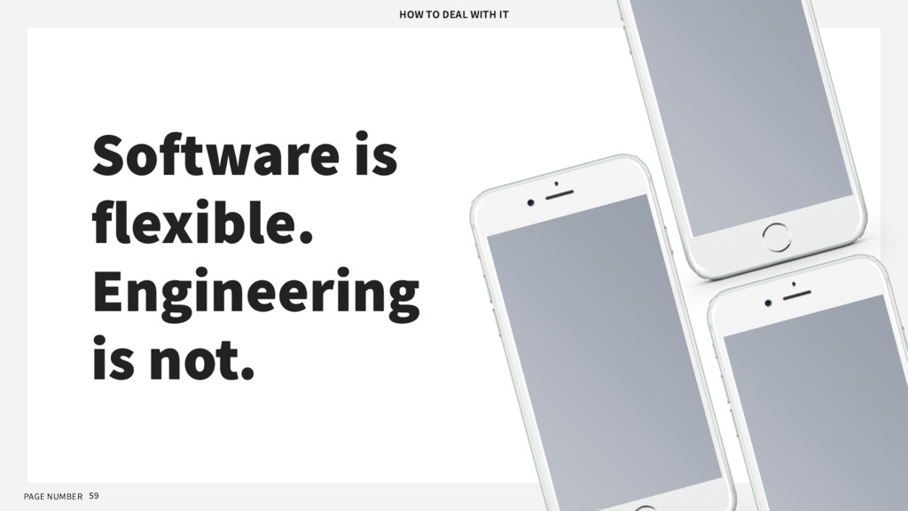 PAGE NUMBER 59 Software is flexible. Engineerin...