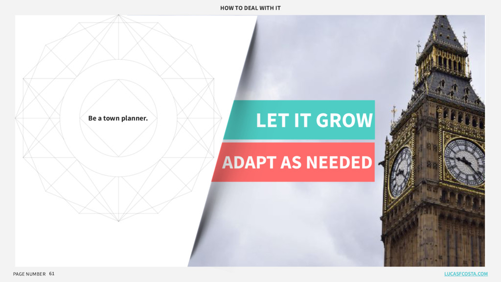 PAGE NUMBER 61 LET IT GROW ADAPT AS NEEDED Be a...