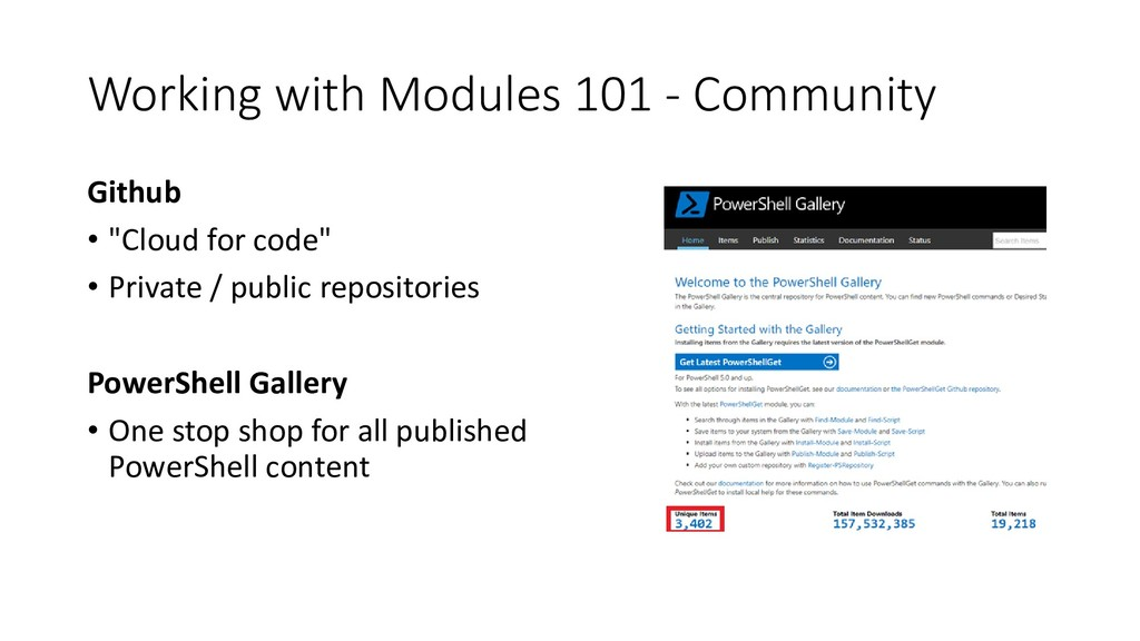 """Working with Modules 101 - Community Github • """"..."""