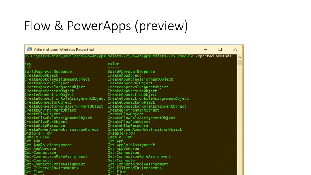 Flow & PowerApps (preview)