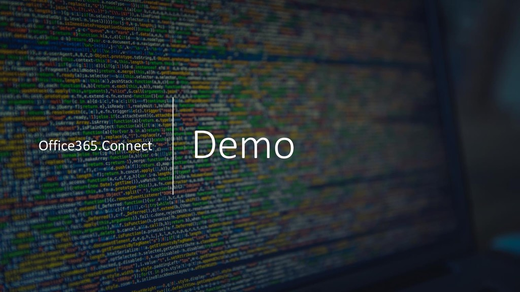 Demo Office365.Connect