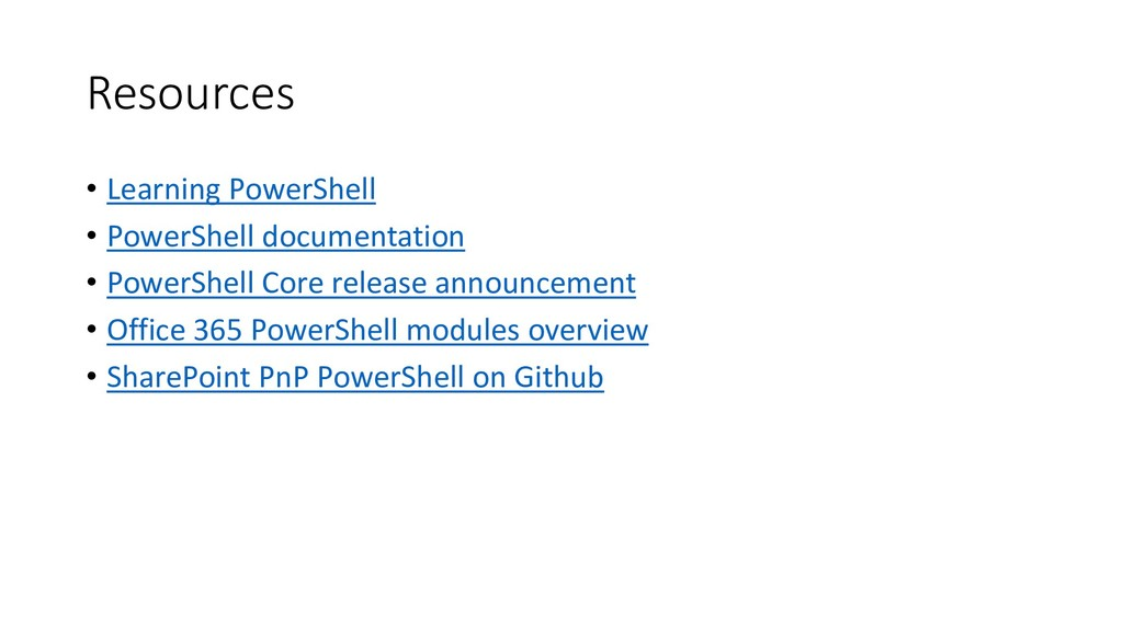 Resources • Learning PowerShell • PowerShell do...