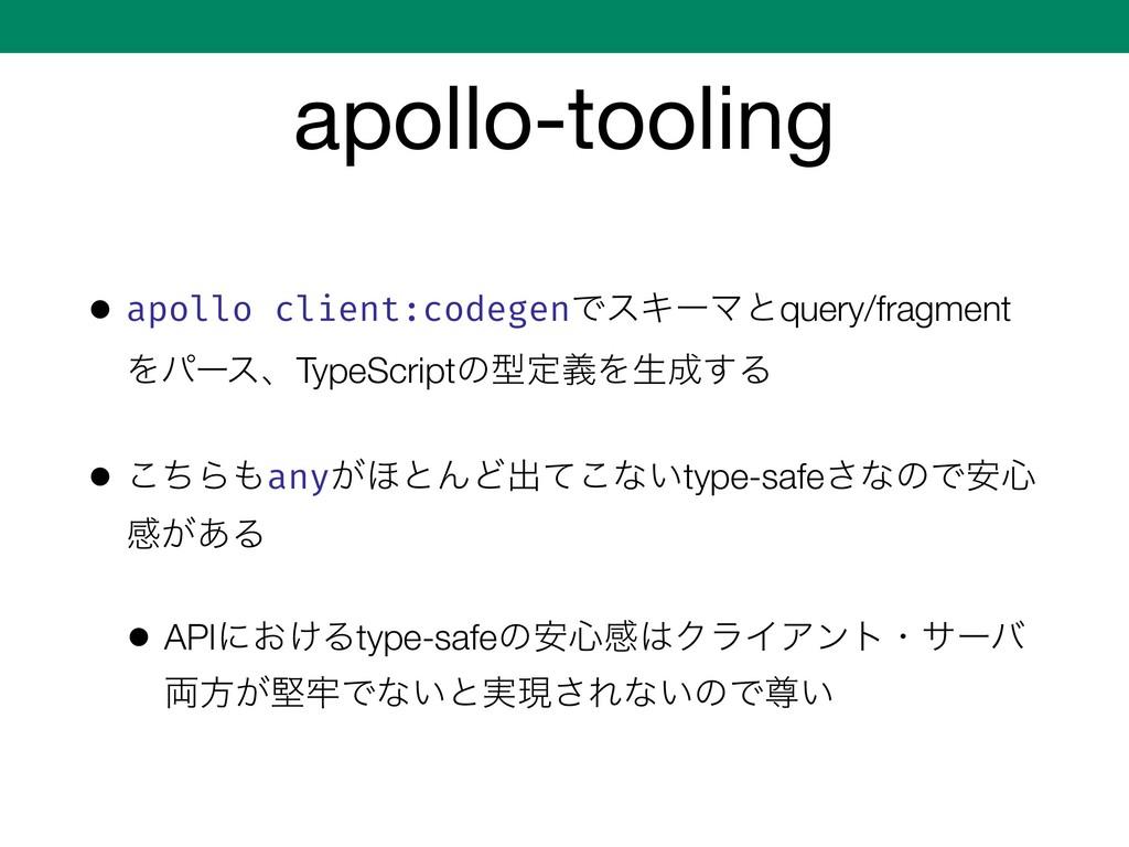 apollo-tooling • apollo client:codegenͰεΩʔϚͱque...