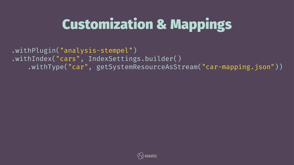 """Customization & Mappings .withPlugin(""""analysis-..."""