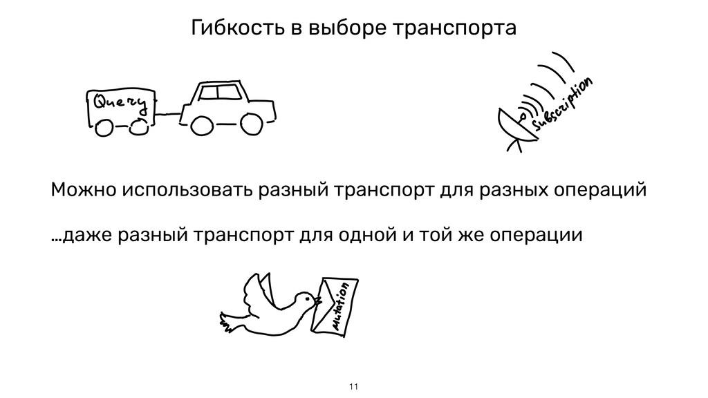 Можно использовать разный транспорт для разных ...