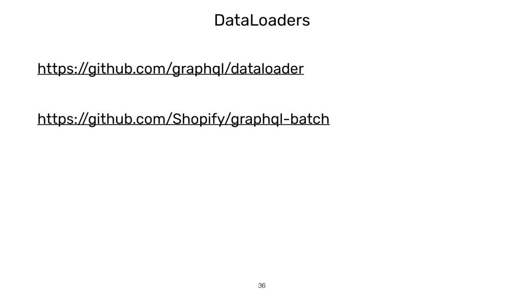 DataLoaders !36 https:/ /github.com/graphql/dat...