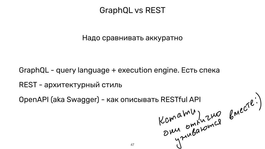 GraphQL vs REST !47 Надо сравнивать аккуратно G...