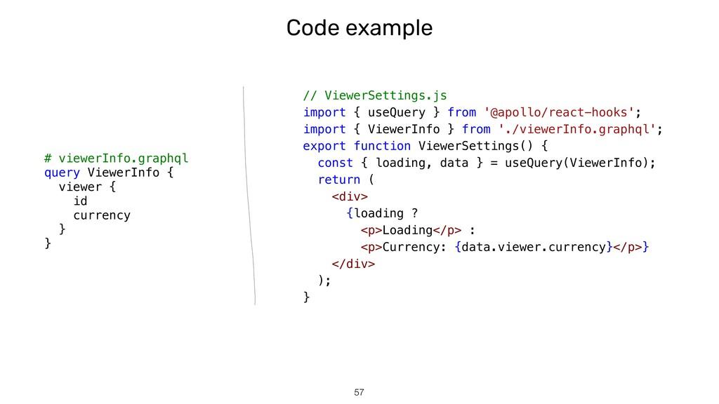 Code example !57 # viewerInfo.graphql query Vie...