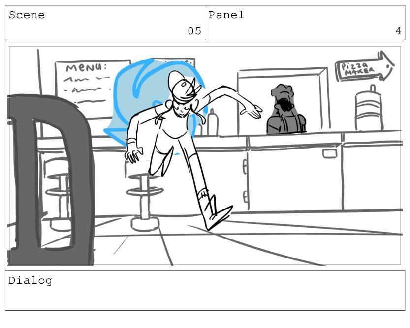Scene 05 Panel 5 Dialog KIM: Oh! ooh!