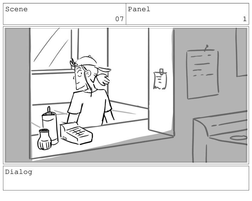 Scene 07 Panel 2 Dialog KIM:Come on, nobody ord...