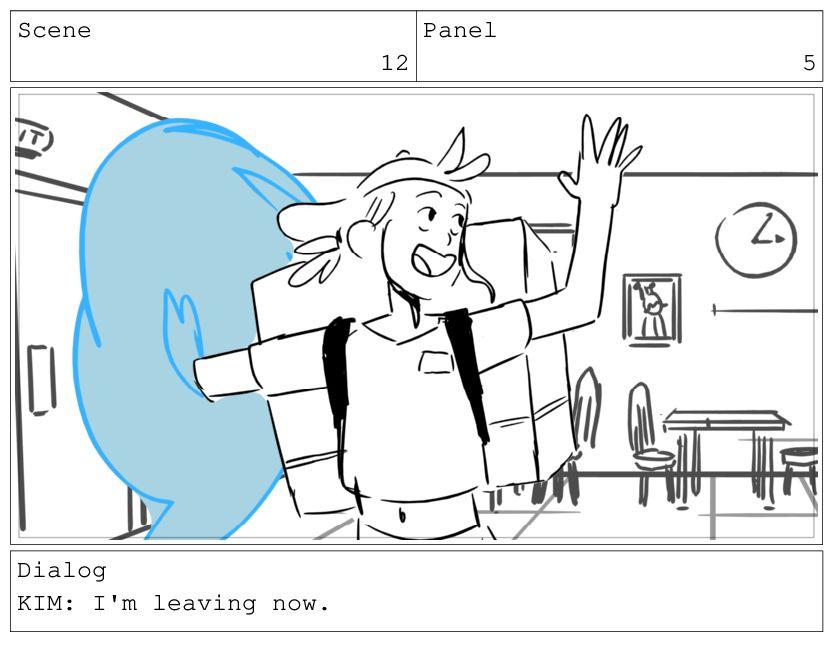 Scene 12 Panel 6 Dialog KIM: UH!