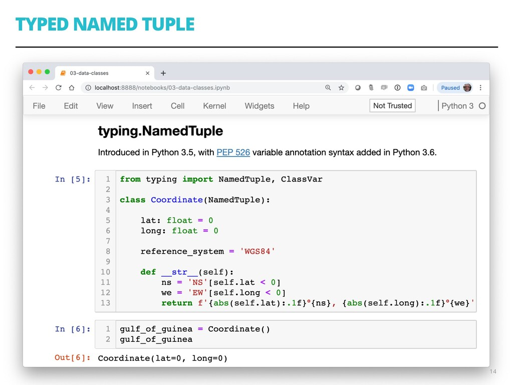 TYPED NAMED TUPLE 14