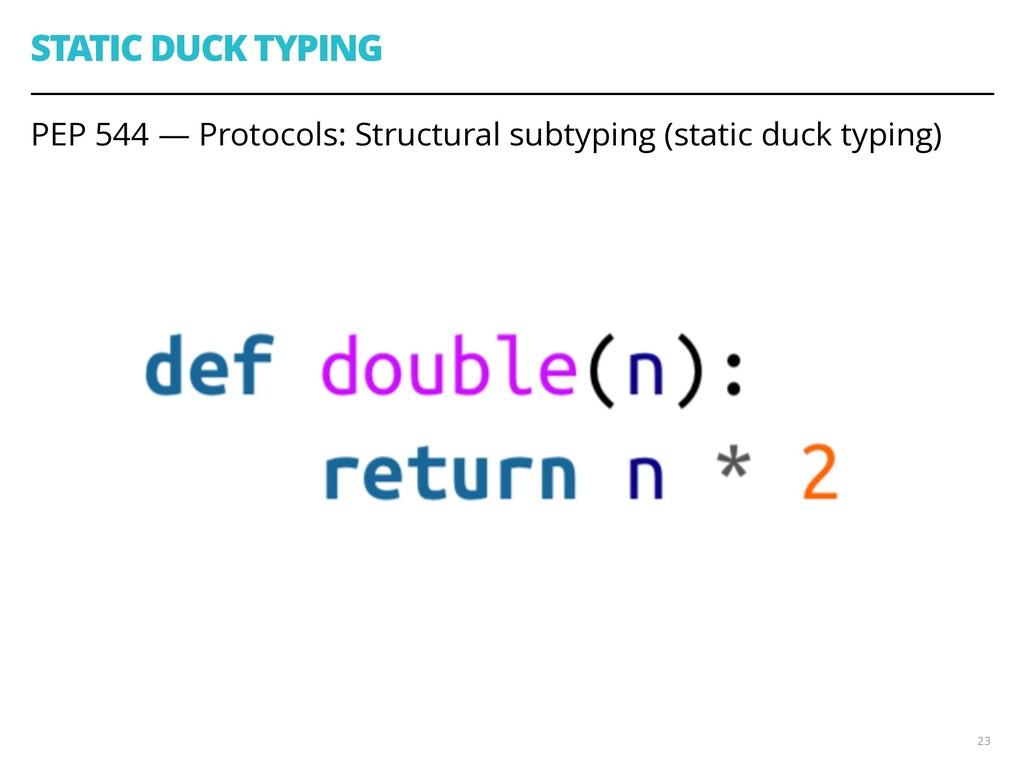 STATIC DUCK TYPING PEP 544 — Protocols: Structu...