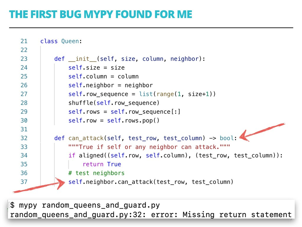 THE FIRST BUG MYPY FOUND FOR ME 7