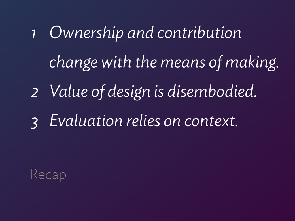1 Ownership and contribution  change with the ...
