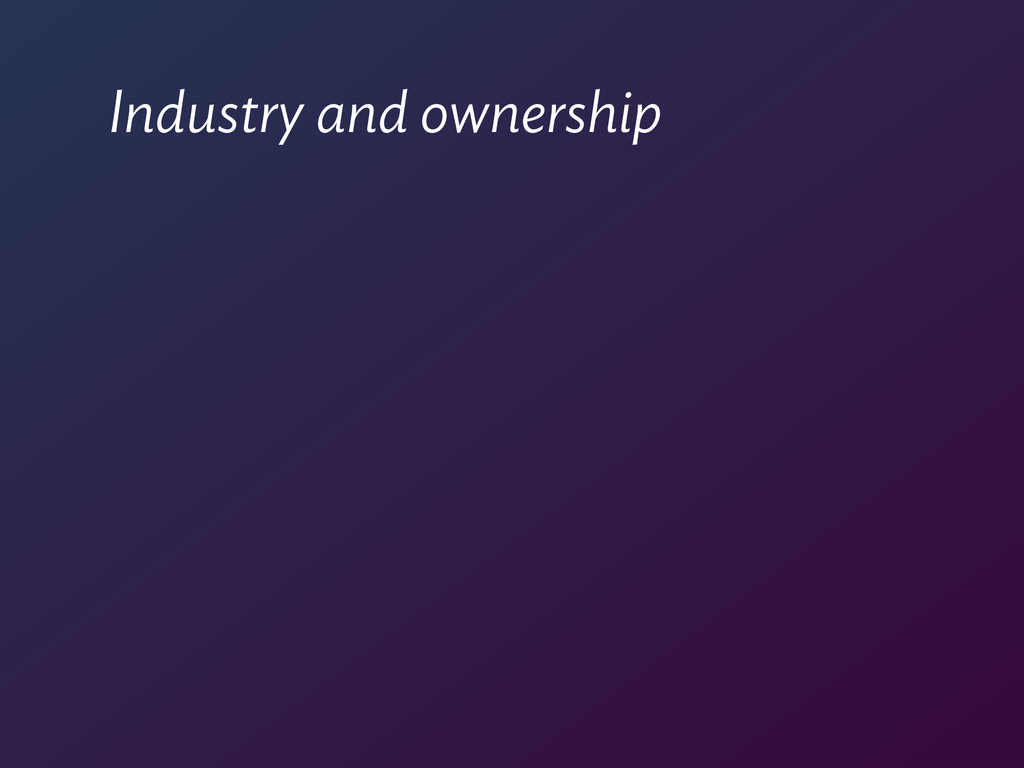 Industry and ownership