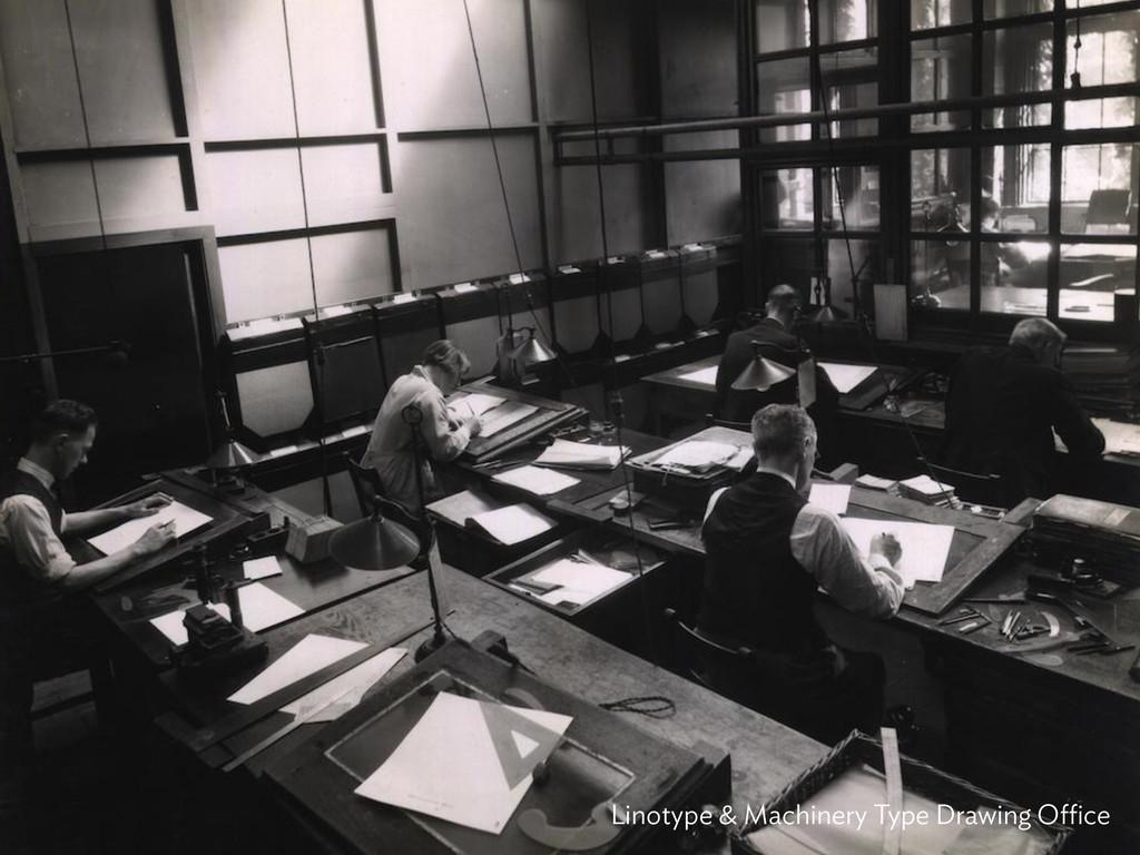 Linotype & Machinery Type Drawing Office