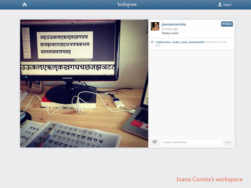 Joana Correia's workspace