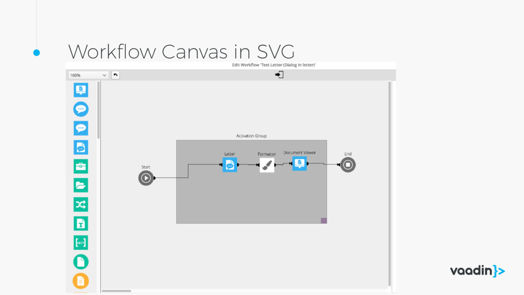 Workflow Canvas in SVG