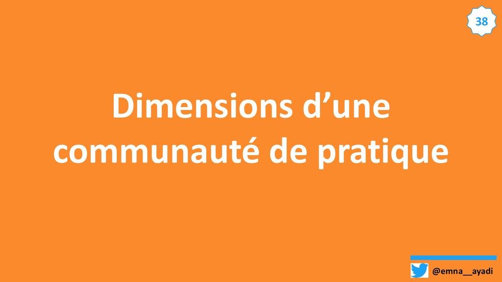 @emna__ayadi 38 Dimensions d'une communauté de ...
