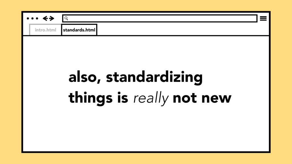 intro.html standards.html also, standardizing t...