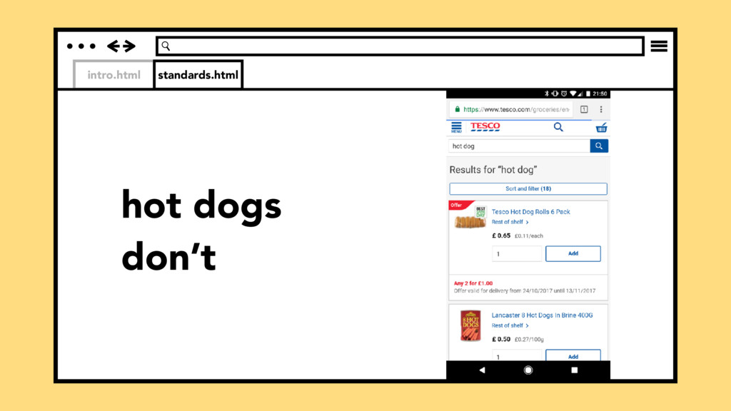 intro.html standards.html hot dogs don't