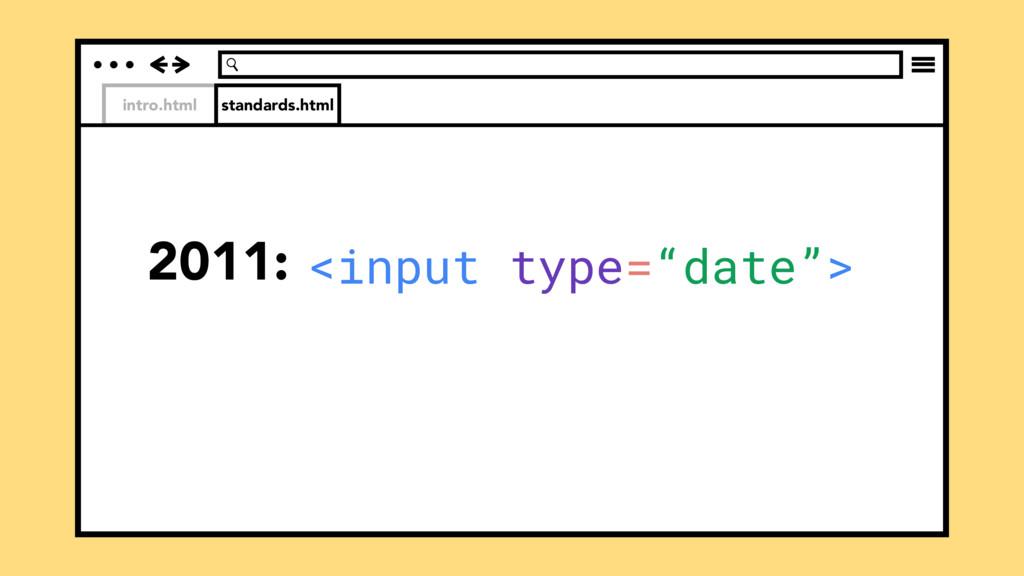 "intro.html 2011: standards.html <input type=""da..."