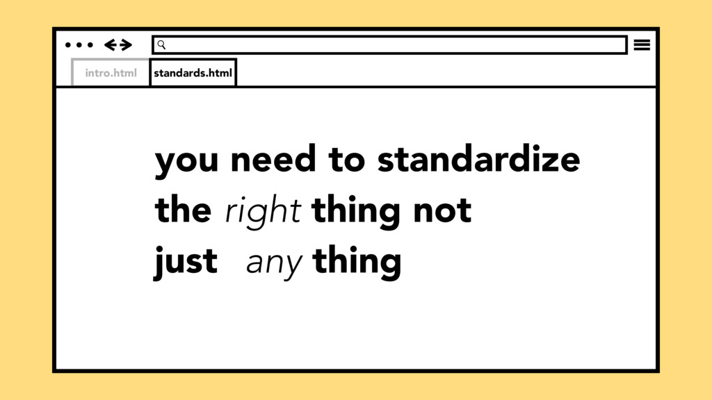 intro.html standards.html you need to standardi...